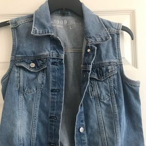 Gap sleeveless denim vest